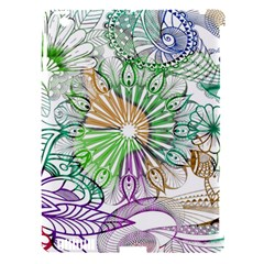 Zentangle Mix 1116c Apple Ipad 3/4 Hardshell Case (compatible With Smart Cover) by MoreColorsinLife