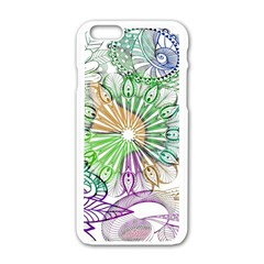 Zentangle Mix 1116c Apple Iphone 6/6s White Enamel Case by MoreColorsinLife
