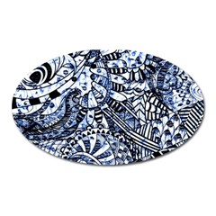 Zentangle Mix 1216b Oval Magnet by MoreColorsinLife
