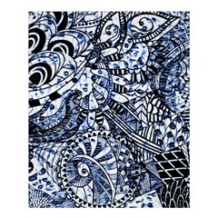 Zentangle Mix 1216b Shower Curtain 60  X 72  (medium)  by MoreColorsinLife