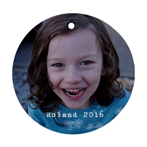 Roland 2016 By Marie Kelly   Ornament (round)   8evaiq6m2tca   Www Artscow Com Front