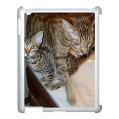 Ocicat Tawny Kitten With Cinnamon Mother  Apple iPad 3/4 Case (White) by TailWags