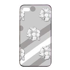 Stripes Pattern Background Design Apple iPhone 4/4s Seamless Case (Black)