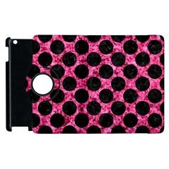 Circles2 Black Marble & Pink Marble (r) Apple Ipad 2 Flip 360 Case by trendistuff