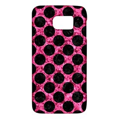 Circles2 Black Marble & Pink Marble (r) Samsung Galaxy S6 Hardshell Case  by trendistuff