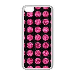 Circles1 Black Marble & Pink Marble Apple Iphone 5c Seamless Case (white) by trendistuff