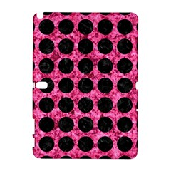 Circles1 Black Marble & Pink Marble (r) Samsung Galaxy Note 10 1 (p600) Hardshell Case by trendistuff