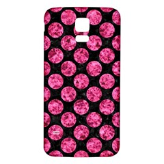 Circles2 Black Marble & Pink Marble Samsung Galaxy S5 Back Case (white) by trendistuff