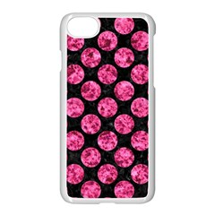 Circles2 Black Marble & Pink Marble Apple Iphone 7 Seamless Case (white) by trendistuff