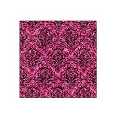 Damask1 Black Marble & Pink Marble (r) Satin Bandana Scarf by trendistuff