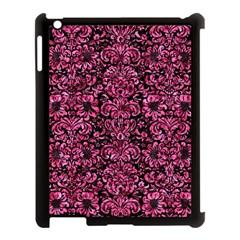 Damask2 Black Marble & Pink Marble Apple Ipad 3/4 Case (black) by trendistuff