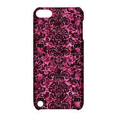 Damask2 Black Marble & Pink Marble (r) Apple Ipod Touch 5 Hardshell Case With Stand by trendistuff