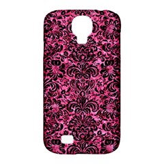 Damask2 Black Marble & Pink Marble (r) Samsung Galaxy S4 Classic Hardshell Case (pc+silicone) by trendistuff