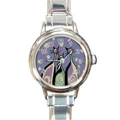 Cats Round Italian Charm Watch by Valentinaart