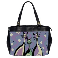 Cats Office Handbags (2 Sides)  by Valentinaart