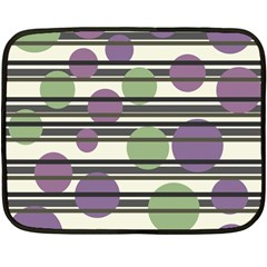 Purple And Green Elegant Pattern Fleece Blanket (mini) by Valentinaart