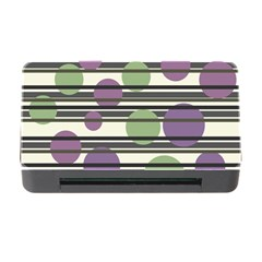 Purple And Green Elegant Pattern Memory Card Reader With Cf by Valentinaart
