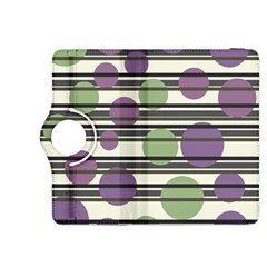 Purple and green elegant pattern Kindle Fire HDX 8.9  Flip 360 Case by Valentinaart