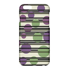 Purple And Green Elegant Pattern Apple Iphone 6 Plus/6s Plus Hardshell Case by Valentinaart