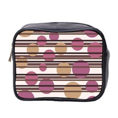 Simple Decorative Pattern Mini Toiletries Bag 2 Side by Valentinaart