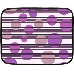 Purple Simple Pattern Double Sided Fleece Blanket (mini)  by Valentinaart