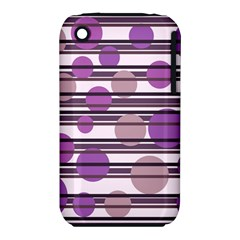 Purple Simple Pattern Iphone 3s/3gs by Valentinaart
