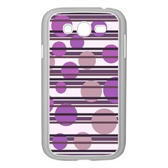 Purple Simple Pattern Samsung Galaxy Grand Duos I9082 Case (white) by Valentinaart