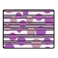Purple Simple Pattern Double Sided Fleece Blanket (small)  by Valentinaart