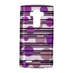 Purple simple pattern LG G4 Hardshell Case by Valentinaart