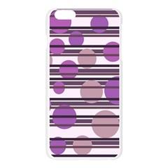Purple simple pattern Apple Seamless iPhone 6 Plus/6S Plus Case (Transparent) by Valentinaart