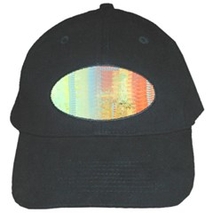 Unique Abstract In Green, Blue, Orange, Gold Black Cap by theunrulyartist