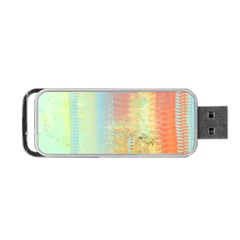Unique Abstract In Green, Blue, Orange, Gold Portable Usb Flash (two Sides) by theunrulyartist