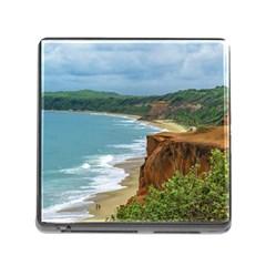 Aerial Seascape Scene Pipa Brazil Memory Card Reader (square) by dflcprints