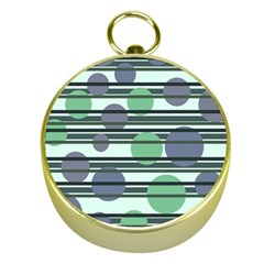 Green Simple Pattern Gold Compasses by Valentinaart