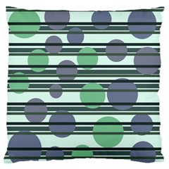 Green Simple Pattern Standard Flano Cushion Case (one Side) by Valentinaart