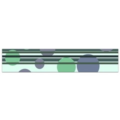 Green Simple Pattern Flano Scarf (small) by Valentinaart