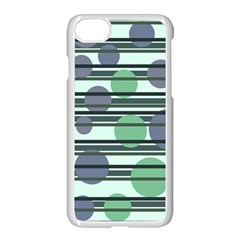 Green Simple Pattern Apple Iphone 7 Seamless Case (white) by Valentinaart