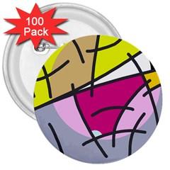 Fair Skater  3  Buttons (100 Pack)  by Valentinaart