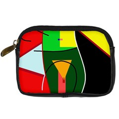 Abstract Lady Digital Camera Cases by Valentinaart