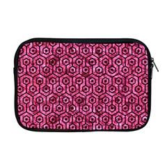 Hexagon1 Black Marble & Pink Marble (r) Apple Macbook Pro 17  Zipper Case by trendistuff