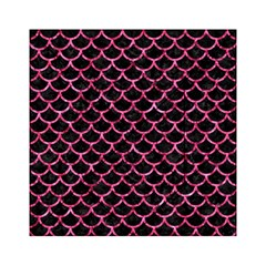 Scales1 Black Marble & Pink Marble Acrylic Tangram Puzzle (6  X 6 ) by trendistuff