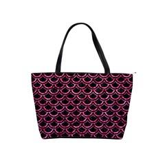 Scales2 Black Marble & Pink Marble Classic Shoulder Handbag by trendistuff