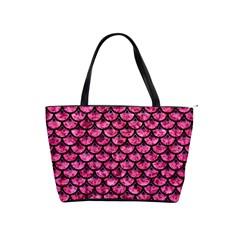 Scales3 Black Marble & Pink Marble (r) Classic Shoulder Handbag by trendistuff