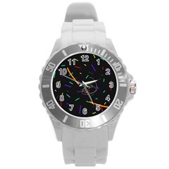 Colorful Beauty Round Plastic Sport Watch (l) by Moma