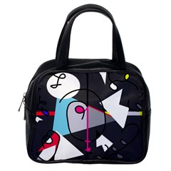 Abstract Bird Classic Handbags (one Side) by Moma