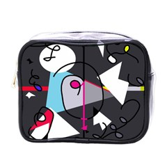 Abstract Bird Mini Toiletries Bags by Moma