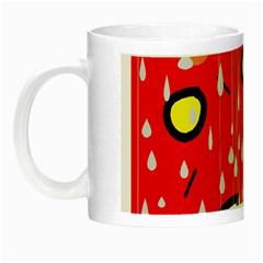 Rainy Day   Red Night Luminous Mugs by Moma