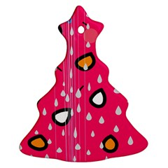 Rainy Day   Pink Ornament (christmas Tree) by Moma