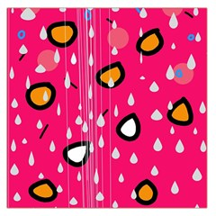 Rainy Day   Pink Large Satin Scarf (square) by Moma