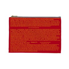 Writing Grace Cosmetic Bag (large)  by MRTACPANS